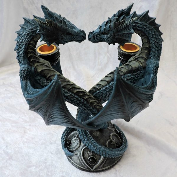 Dragon Heart Candle Holder (AS) 23cm