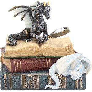 Miniature Scholar's Dragon Trinket Box 13cm