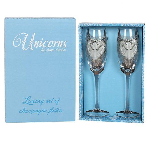 Anne Stokes Unicorn Champagne Flutes (set of 2)