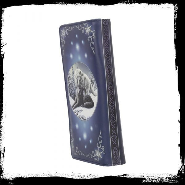 Snow Kisses Wolf Embossed Purse