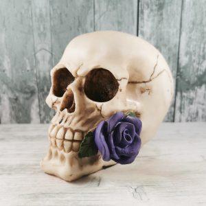 purple rose skull