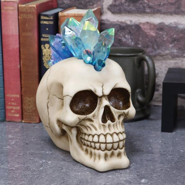 Crystal Mohawk Skull Ornament
