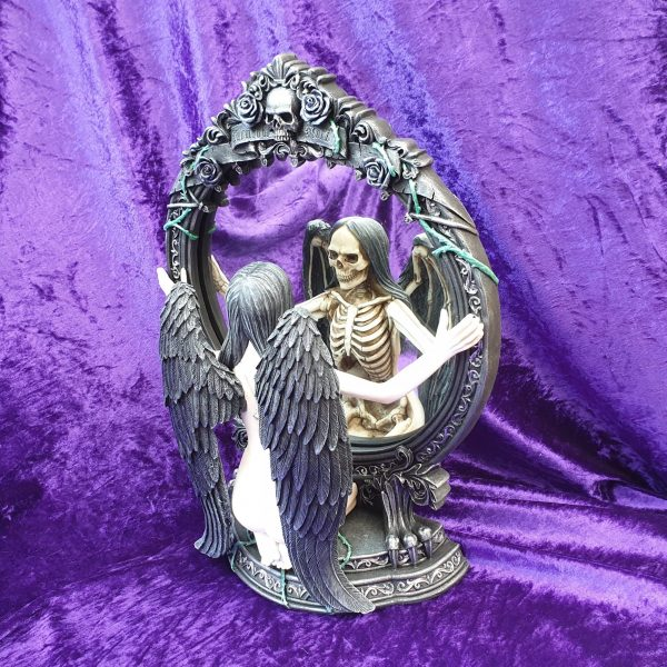 Fate's Reflection Skeleton Angel Mirror 33cm