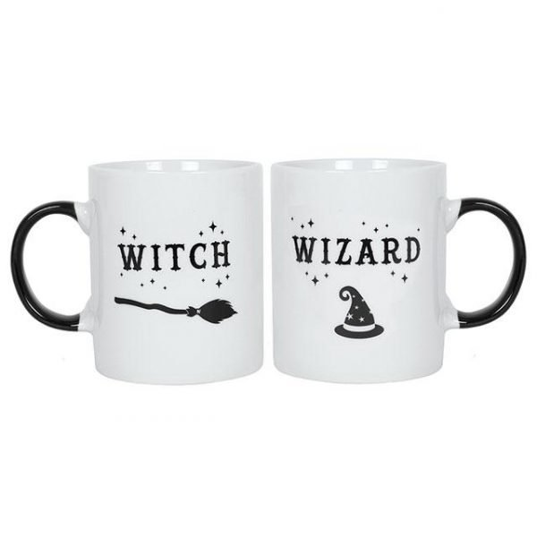 Witch and Wizard Mug Set