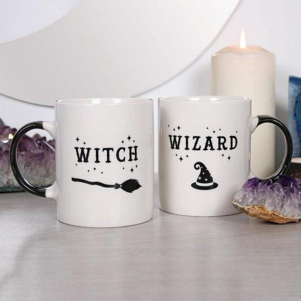 Witch and Wizard Mug Set