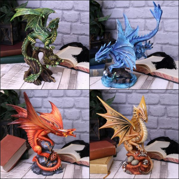 Anne Stokes 'Age of Dragons' Set of 4 Dragon Ornaments