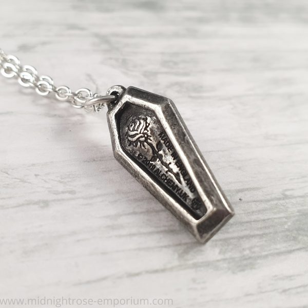RIP Rose Coffin Necklace