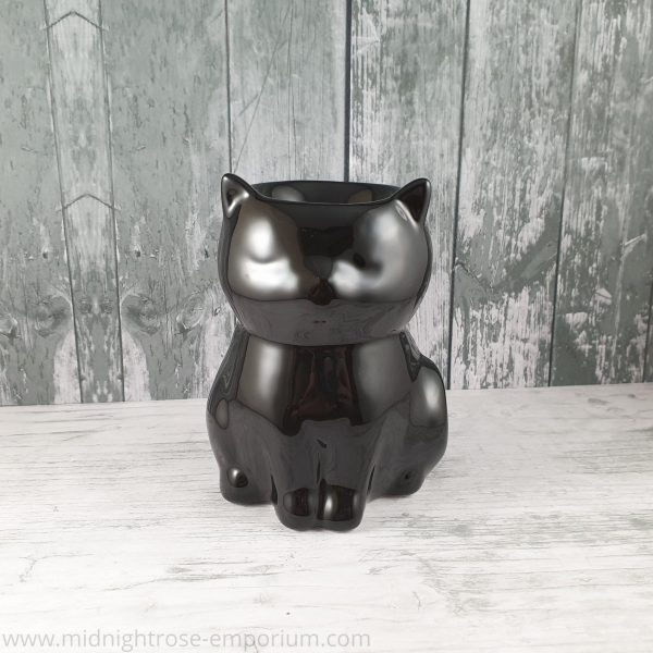 Black Cat Oil Burner - Black Magic Collection