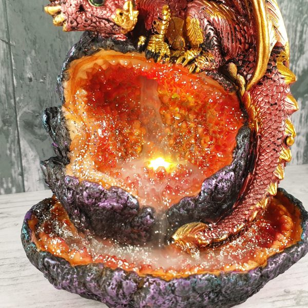 Crystalline Guardian Backflow Incense Burner