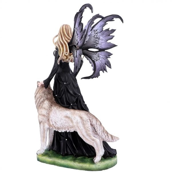 'Loveta' Premium XL Fairy & Wolf Figurine 58.5cm