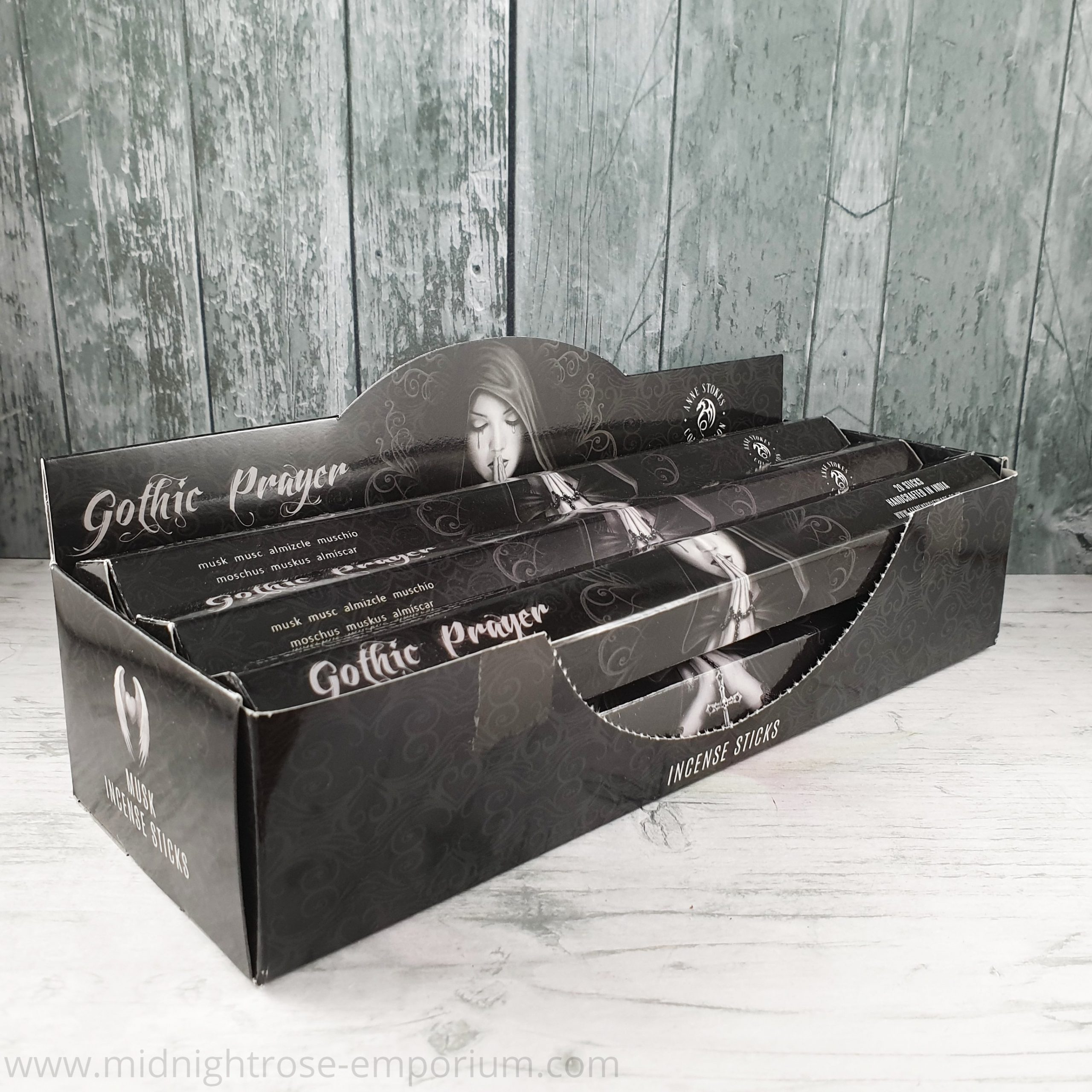 Anne Stokes Gothic Prayer Incense Sticks Musk