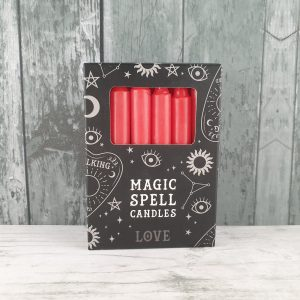 Pack of 12 Red 'Love' Spell Candles