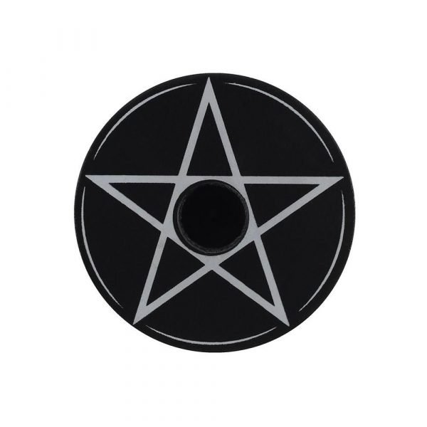 Pentagram Spell Candle Holder - Black Magic Collection