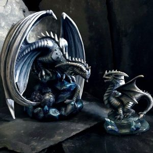 Anne Stokes Adult & Baby Rock Dragon Ornaments