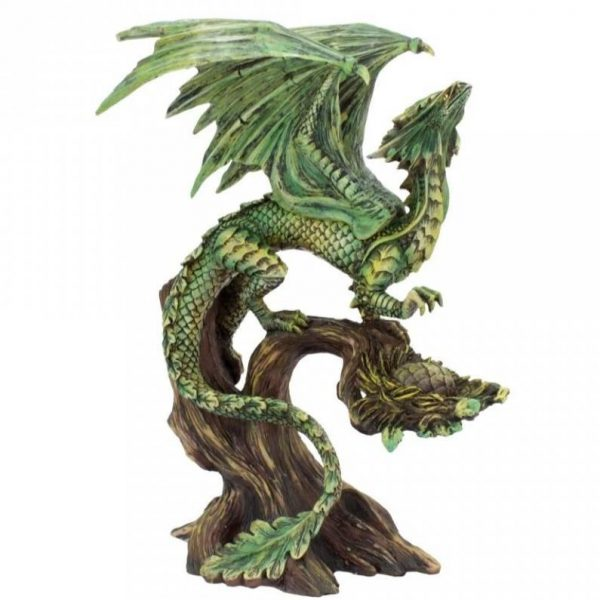 Anne Stokes Adult & Baby Forest Dragon Ornaments