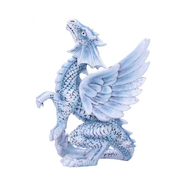 Anne Stokes Adult & Baby Silver Dragon Ornaments