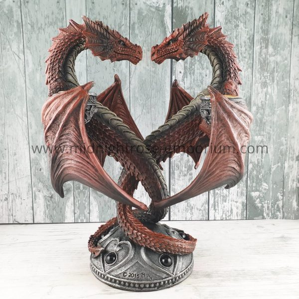 Anne Stokes Dragon Heart Candle Holder - Valentine Edition 23cm
