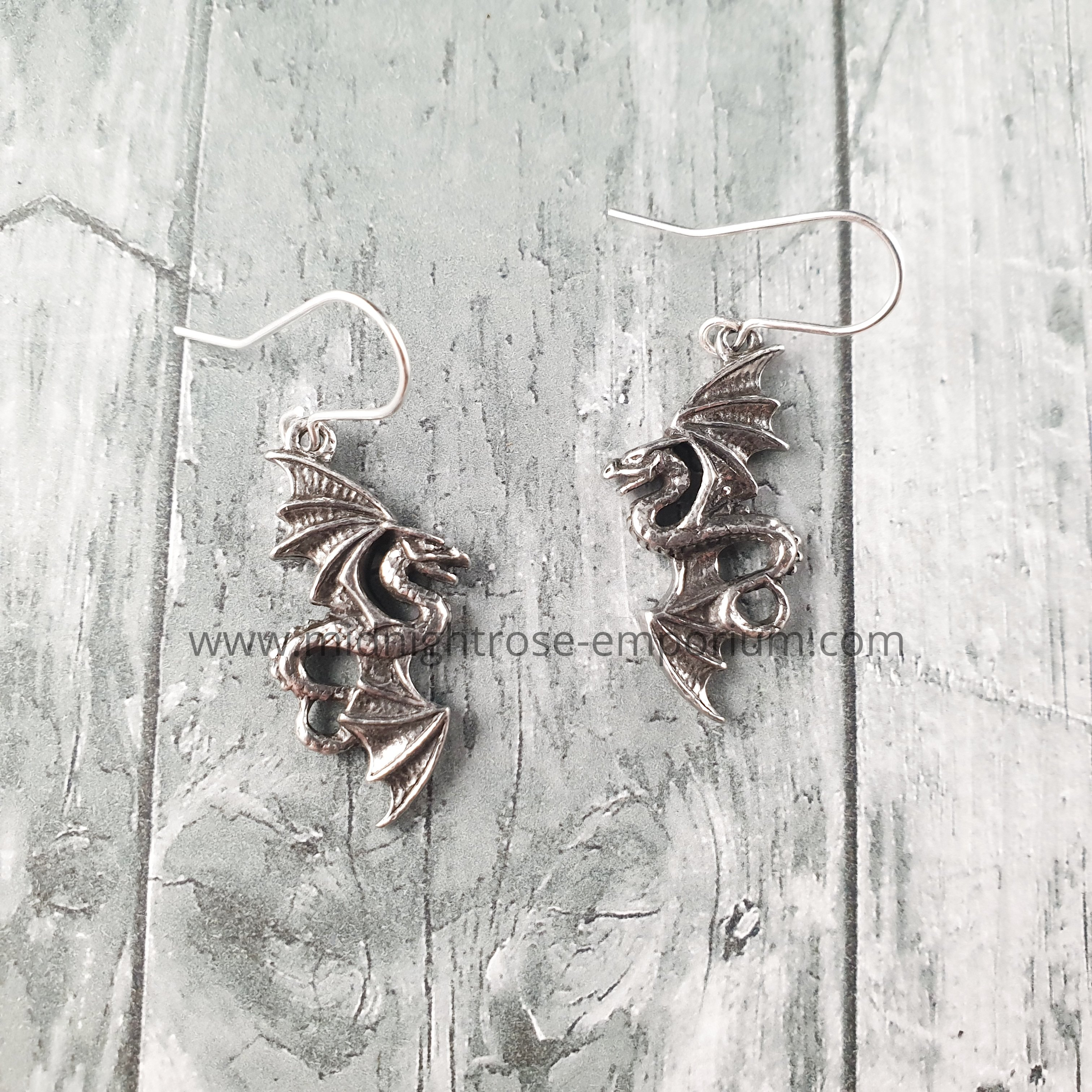 Flight of Airus Dragon Earrings