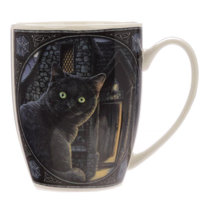 'What Lies Within' Black Cat Mug