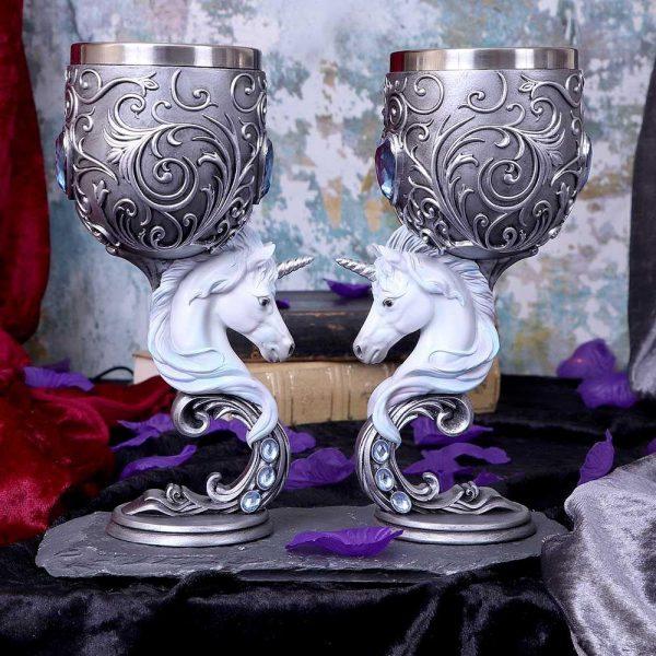 Enchanted Hearts Unicorn Goblets 18.5cm