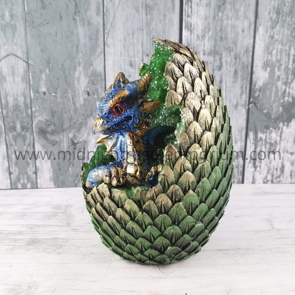 Geode Home LED Crystal Baby Dragon Figurine (Blue)