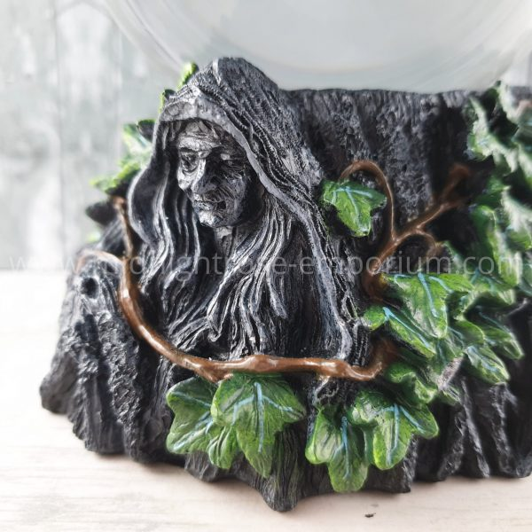 Maiden, Mother & Crone Crystal Ball Stand & Ball