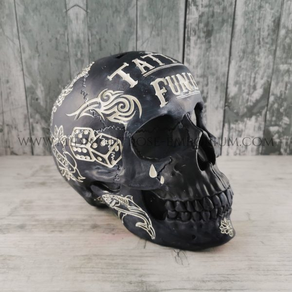 Black Skull 'Tattoo Fund' Money Box