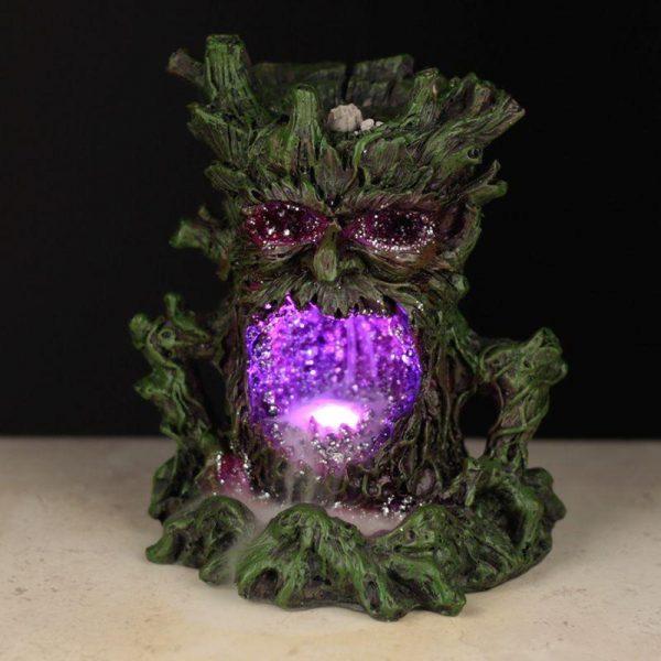 Green Man Geode Cave LED Backflow Incense Burner