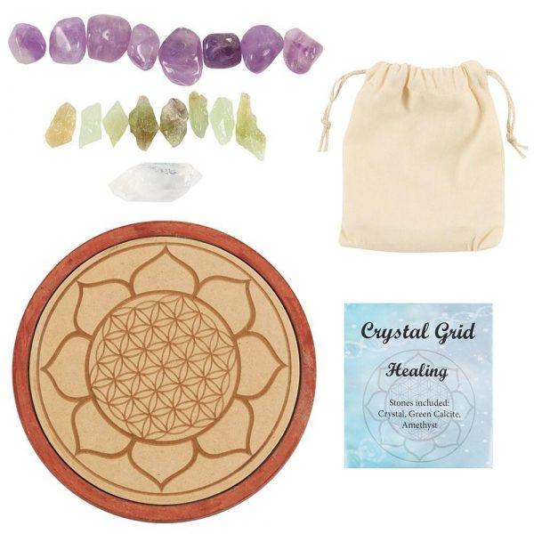 15cm Healing Crystal Grid & Crystals