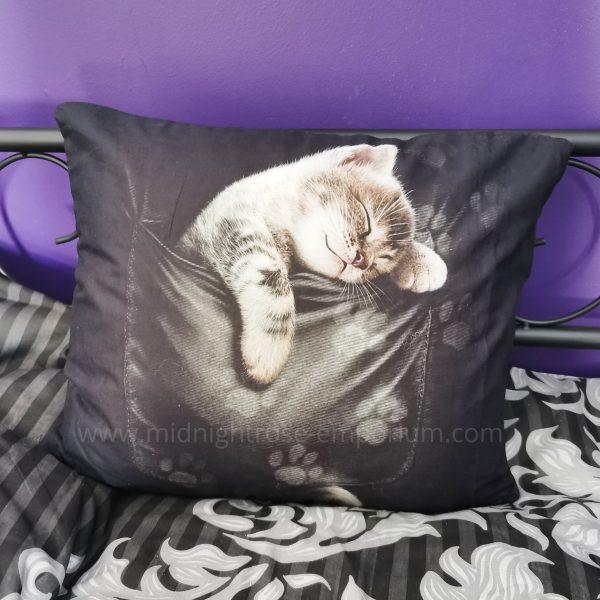 Pocket Kitten Cushion