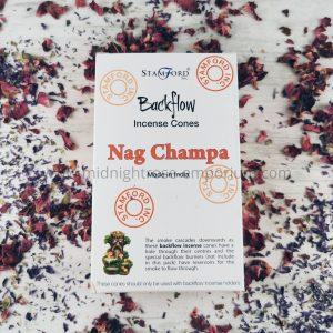 Nag Champa Backflow Incense Cones - Box of 12
