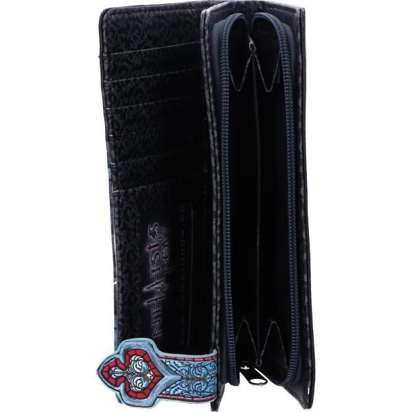 Sacred Circle Black Cat Embossed Purse