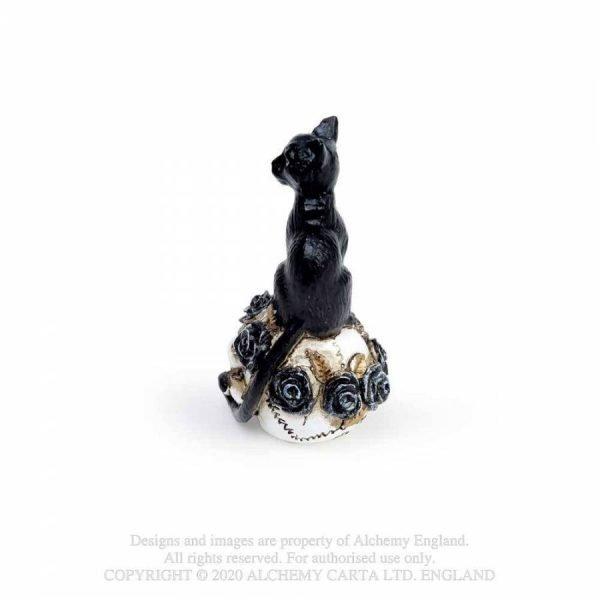 Black Cat & Skull Miniature