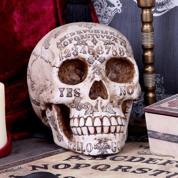 'Spirits' Ouija Skull Ornament 20cm