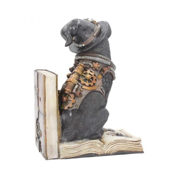 Purring Pioneer Steampunk Cat Book End 19cm