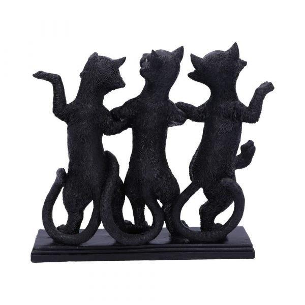 Purrfect Posture Black Cats Ornament