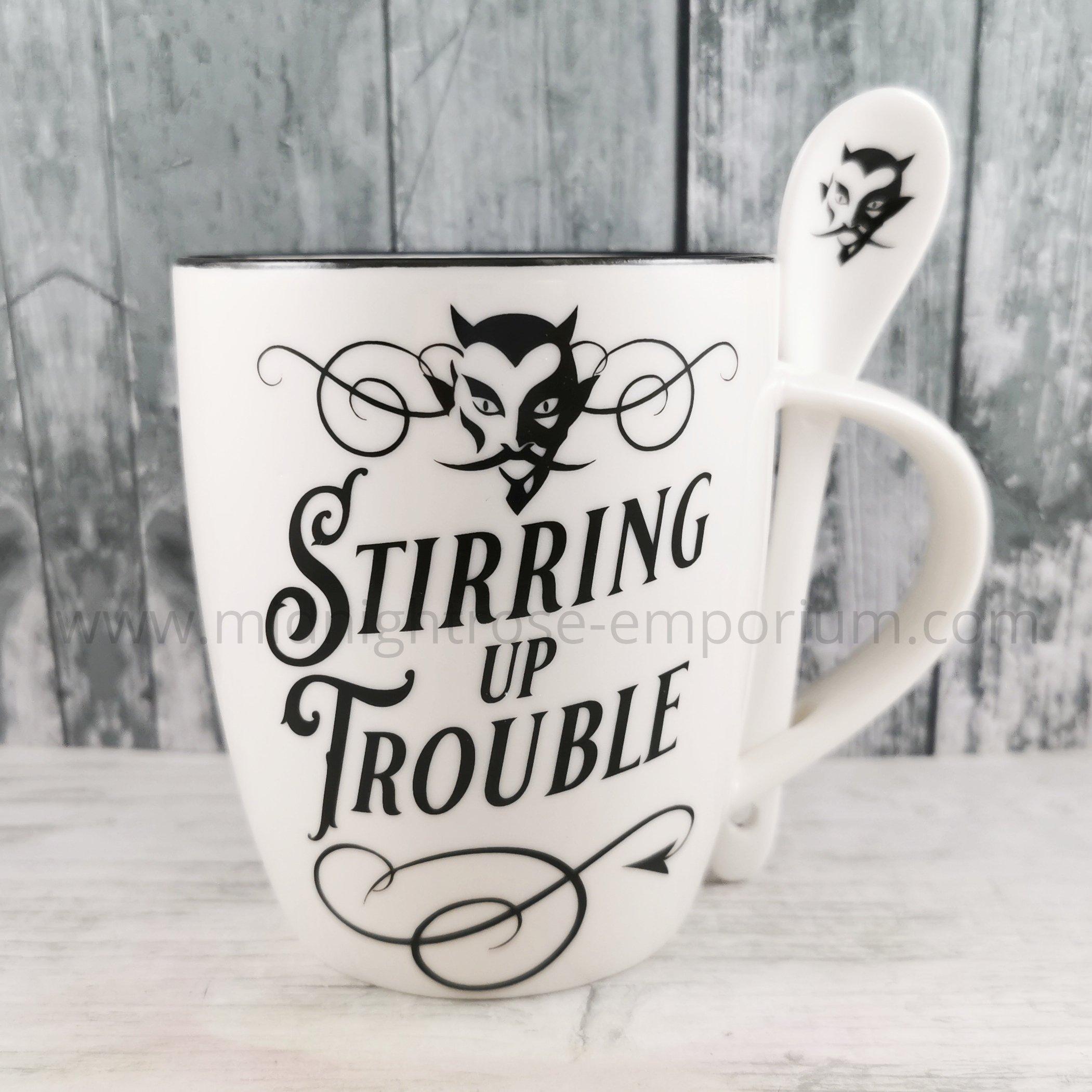 Stirring Up Trouble Mug & Spoon Set
