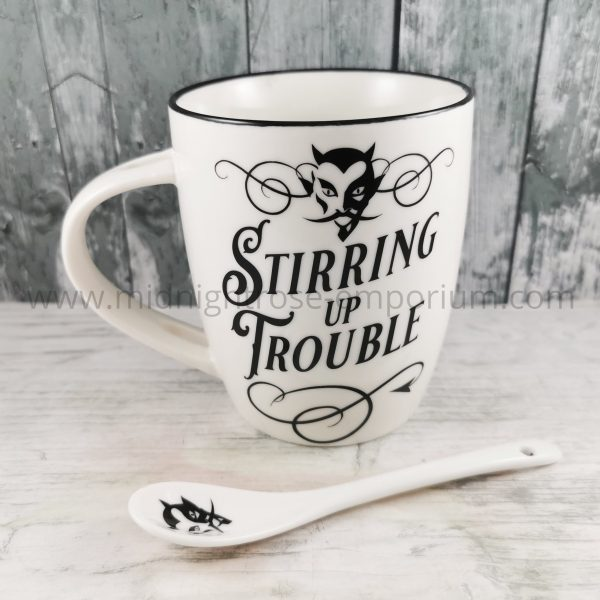 Stirring Up Trouble Mug & Spoon Set