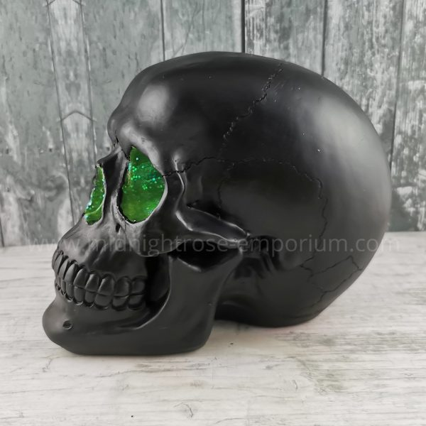 Green Geode Skull Ornament