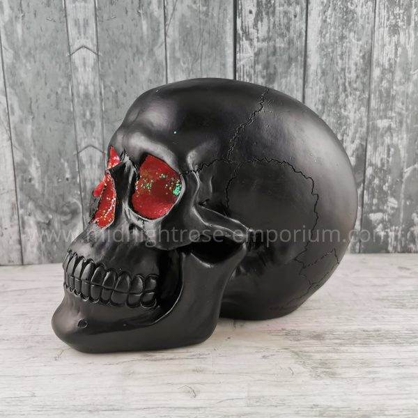 Red Geode Skull Ornament
