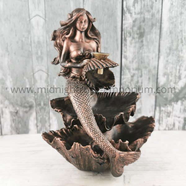 Bronze Effect Mermaid Backflow Incense Burner