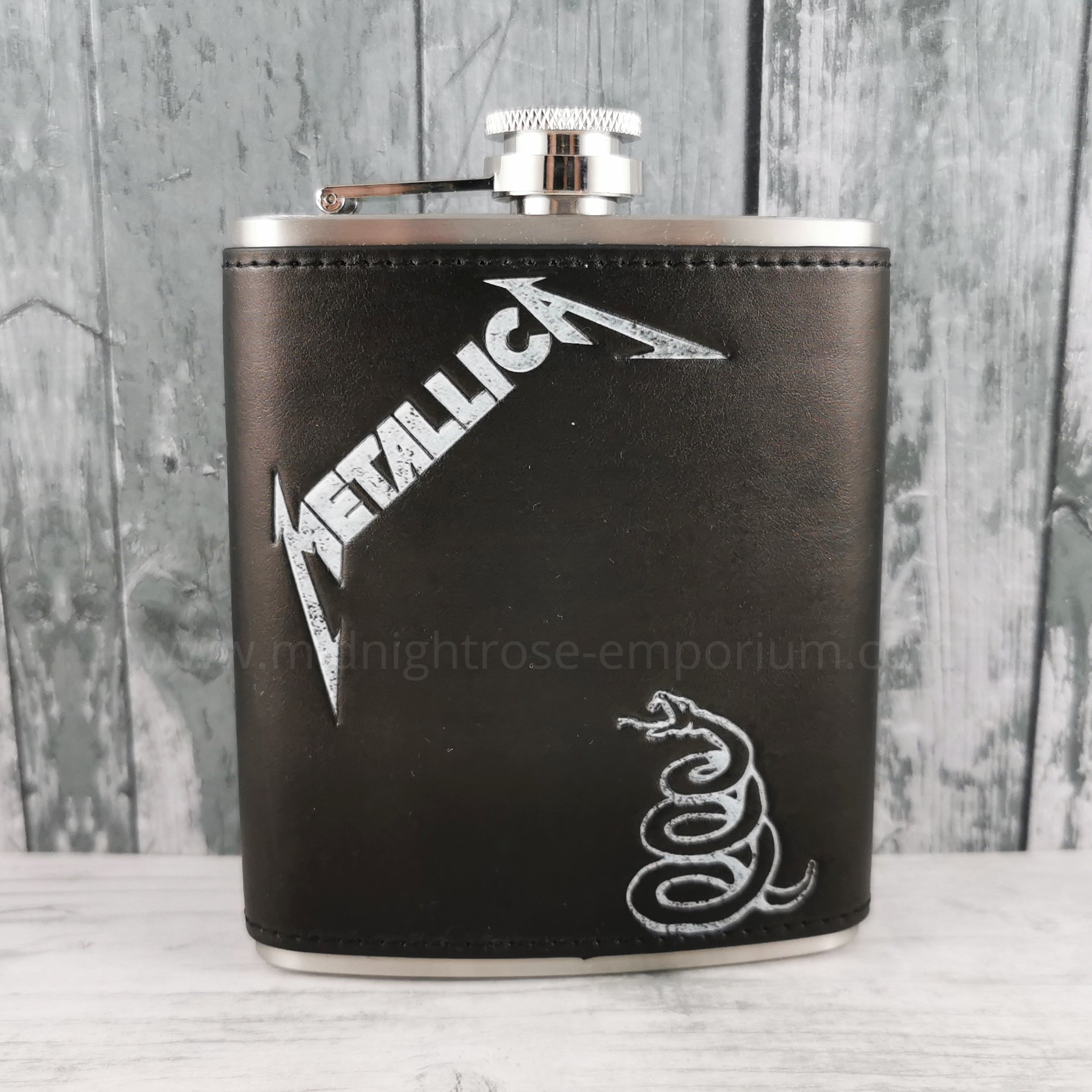 Metallica Black Album Hip Flask 7oz