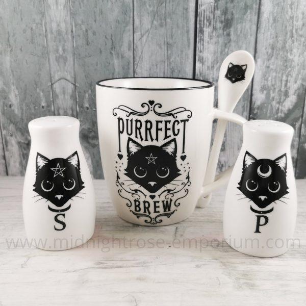 Purrfect Brew Mug & Spoon Set