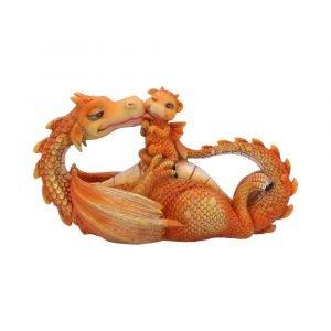Sweetest Moment Dragon Figurine - Orange 20.2cm