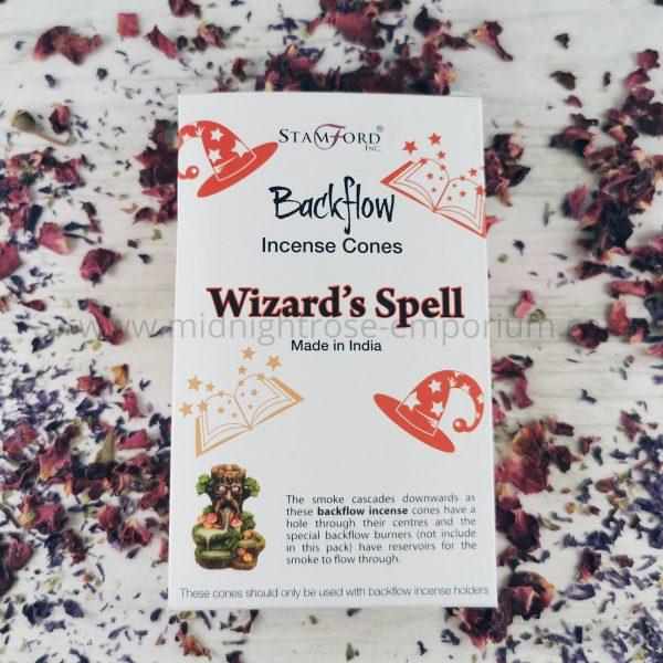 Wizard's Spell Backflow Incense Cones - Box of 12