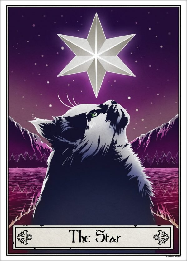 Deadly Tarot Felis 'The Star' Mini Art Poster