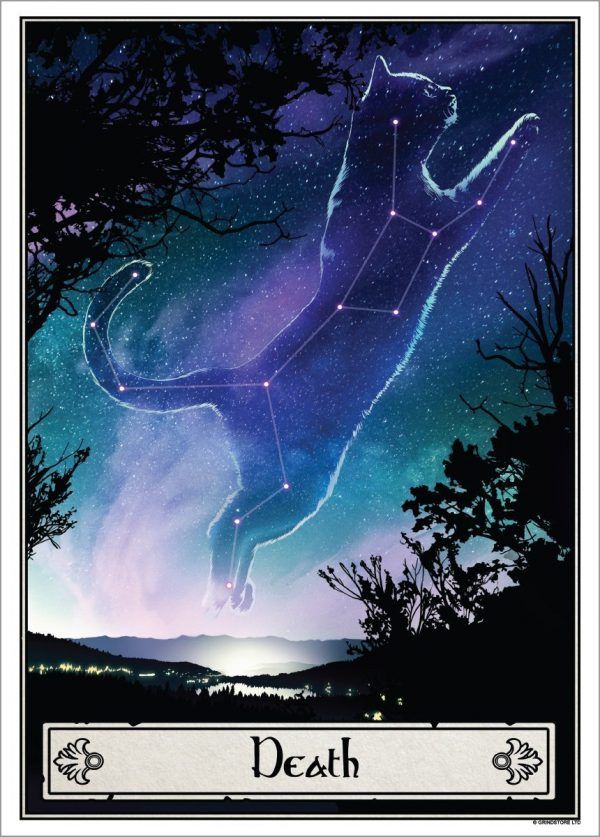 Deadly Tarot Felis 'Death' Mini Art Poster