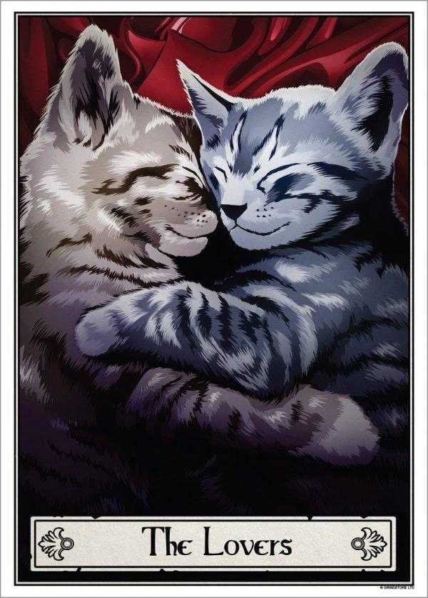 Deadly Tarot Felis 'The Lovers' Mini Art Poster