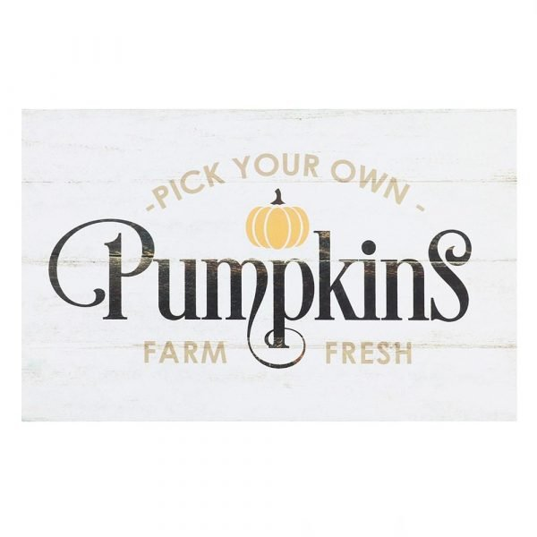 Pick Your Own Pumpkins Standing Sign