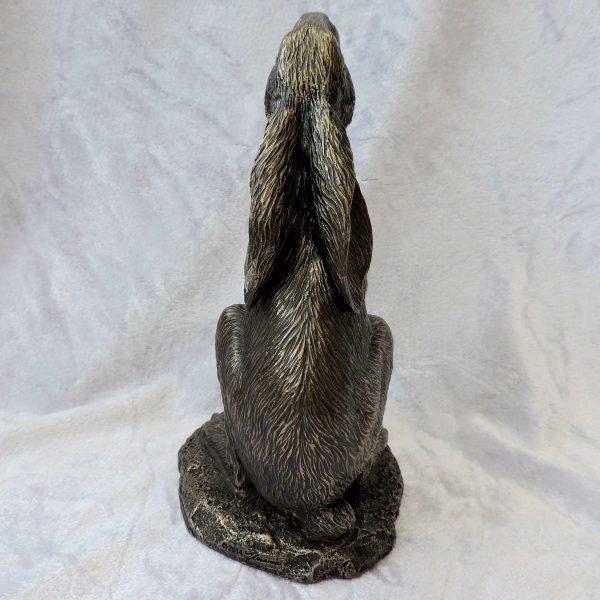 Moon Gazing Hare Figurine 18.5cm